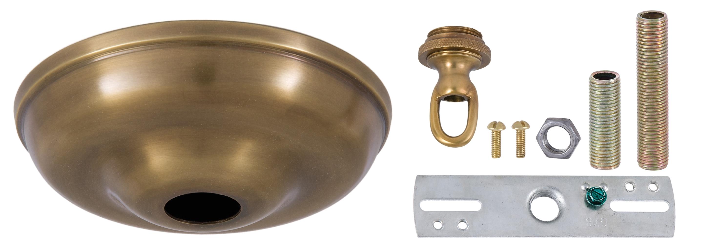 10803a 5 1 2 inch antique brass round canopy