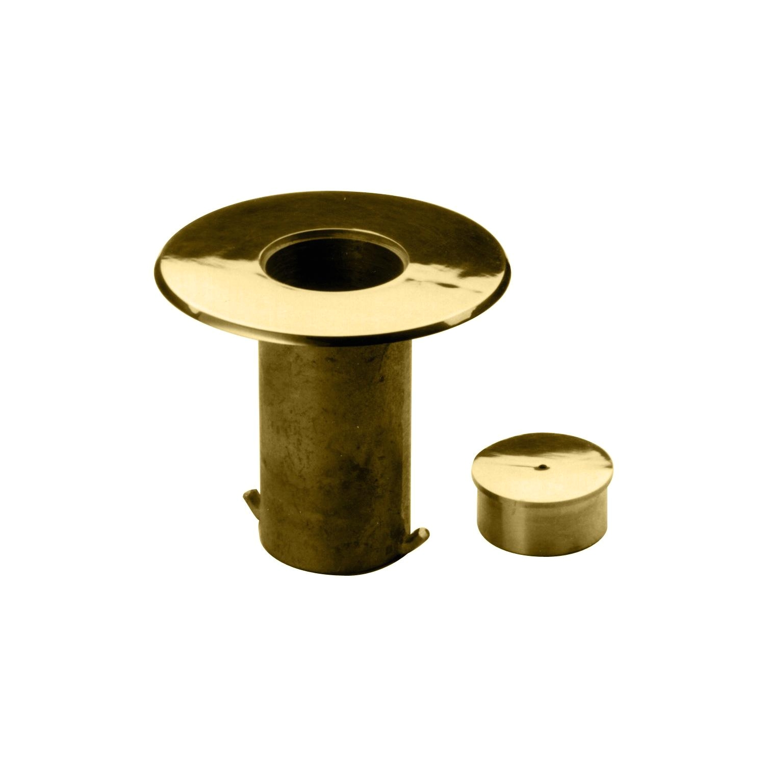 Brass Floor Single Outlet Cover Floor socket with Cap 2 Od 545 Architectural Railings Flanges
