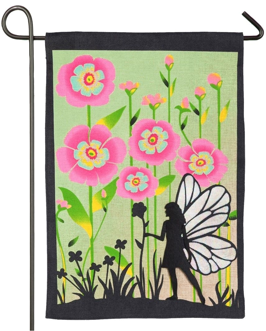 Breeze Art Garden Flags Burlap Garden Fairy Decorative Garden Flag Flags