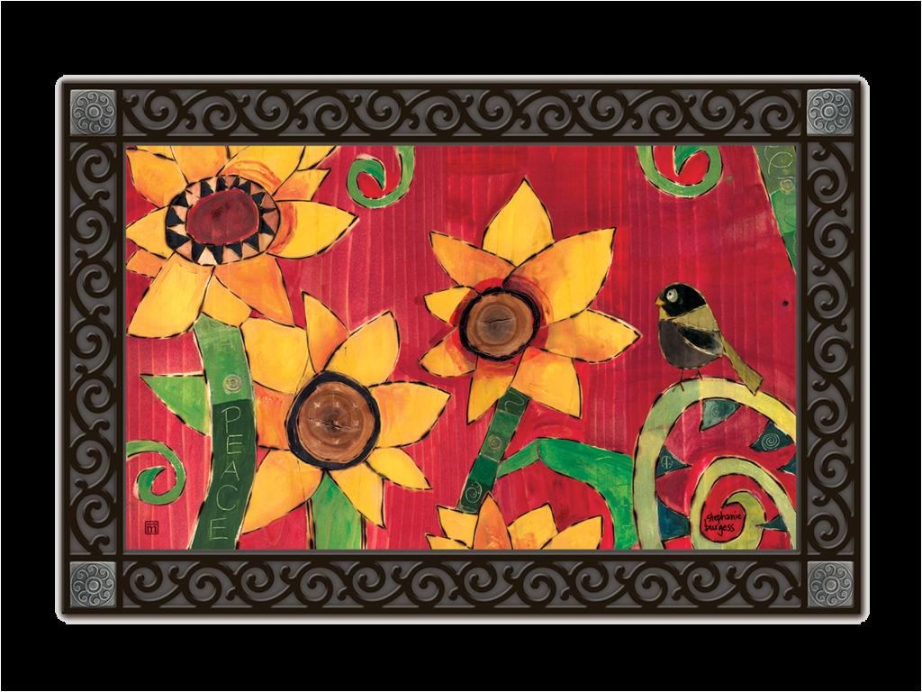 sunflower garden door mat