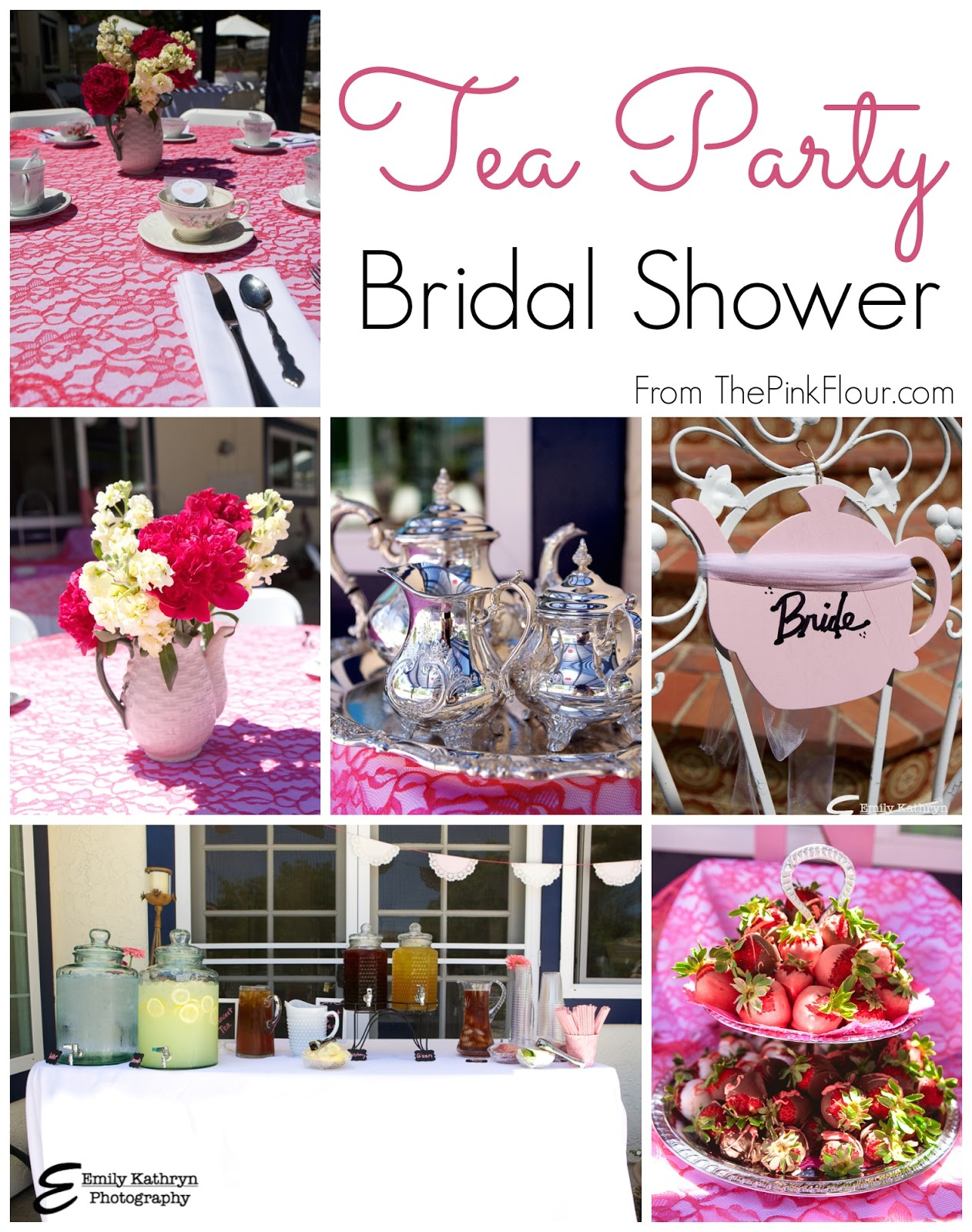 Bridal Shower themes for Spring Photo Tea Party Bridal Shower Image