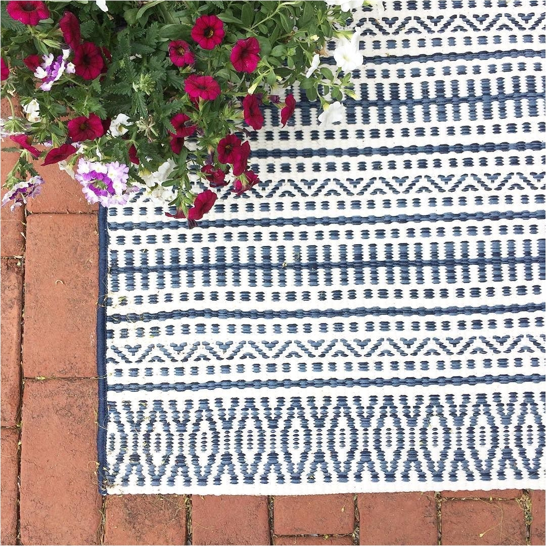 outdoor rug pattern stripe blue thresholda target