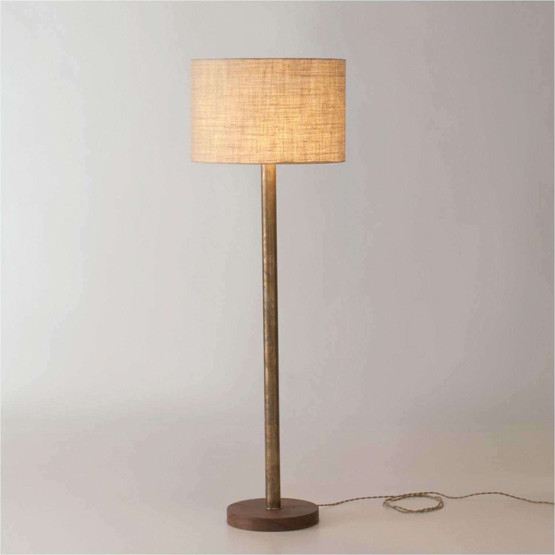 Bright Yellow Floor Lamp Lamp Mid Century Elegant Home Lighting Diy Wood Floor Lamp Plans