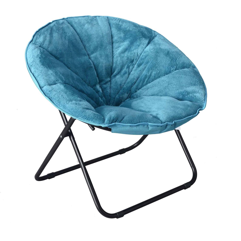mainstays plush saucer chair multiple colors 30 w x