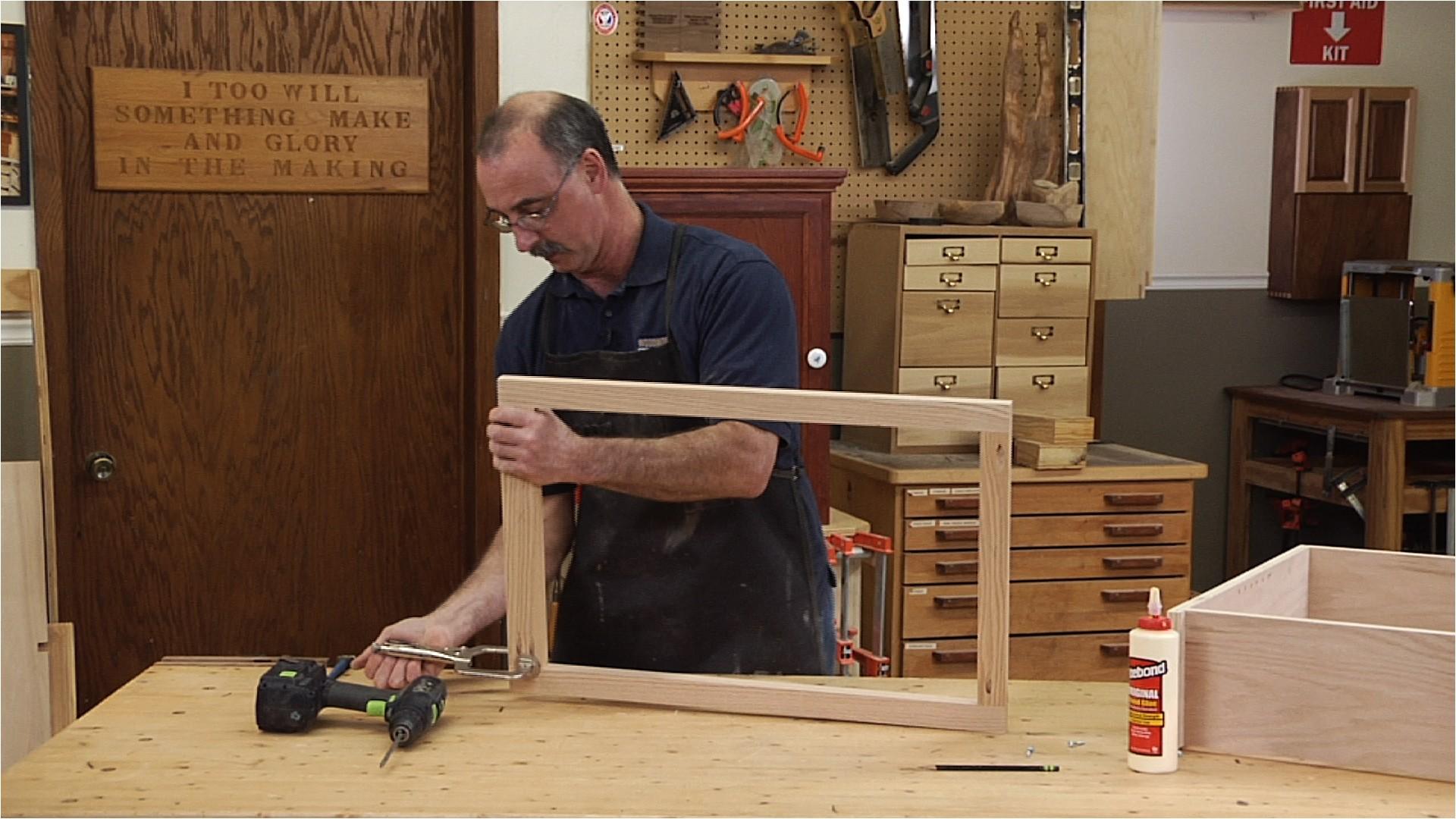 make the face frame fundamentals of cabinet making class 008209 d1e53u c