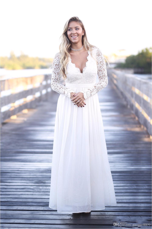 2017 fall long chiffon boho bridesmaid dresses long sexy deep v neck long sleeves a line floor length country western wedding guest gowns bridesmaid beach