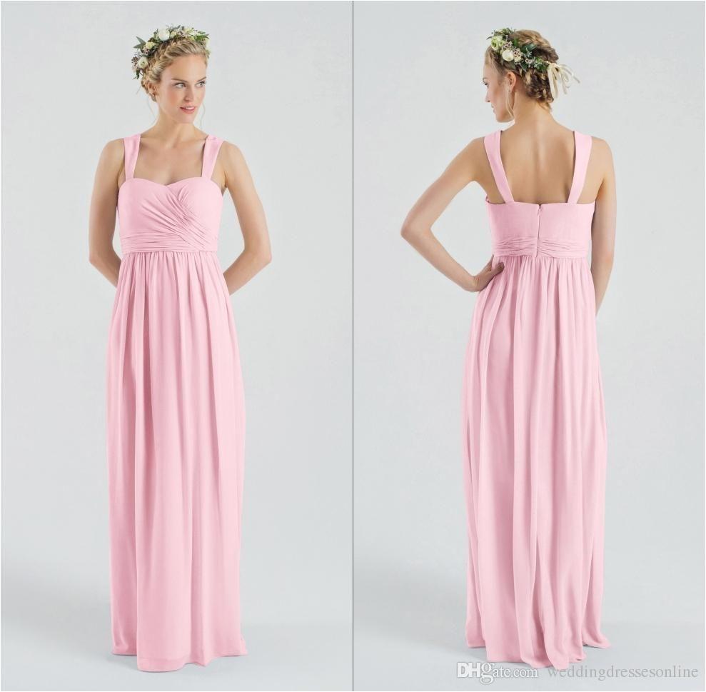 beach pink cap sleeves long prom dresses 2016 pleated chiffon sweetheart neckline floor length sheath zipper wedding party girl dress simple retro