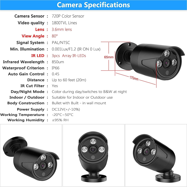 amazon com 4ch 1080n ahd home security camera system cctv camera security system 4 x 720p cameras no hard drive sw swinway anran camera photo