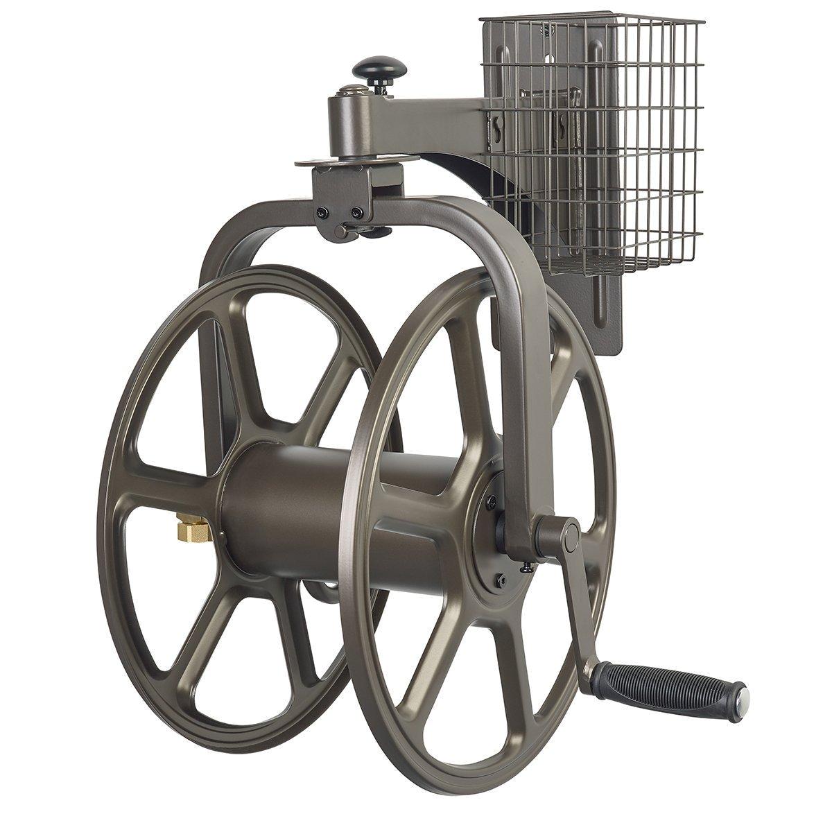 hose wall reel rotating