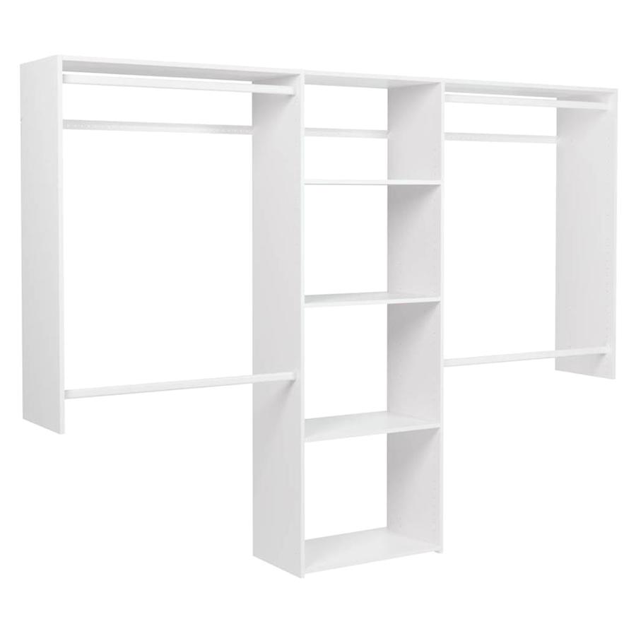 easy track 8 ft x 7 ft wood closet kit