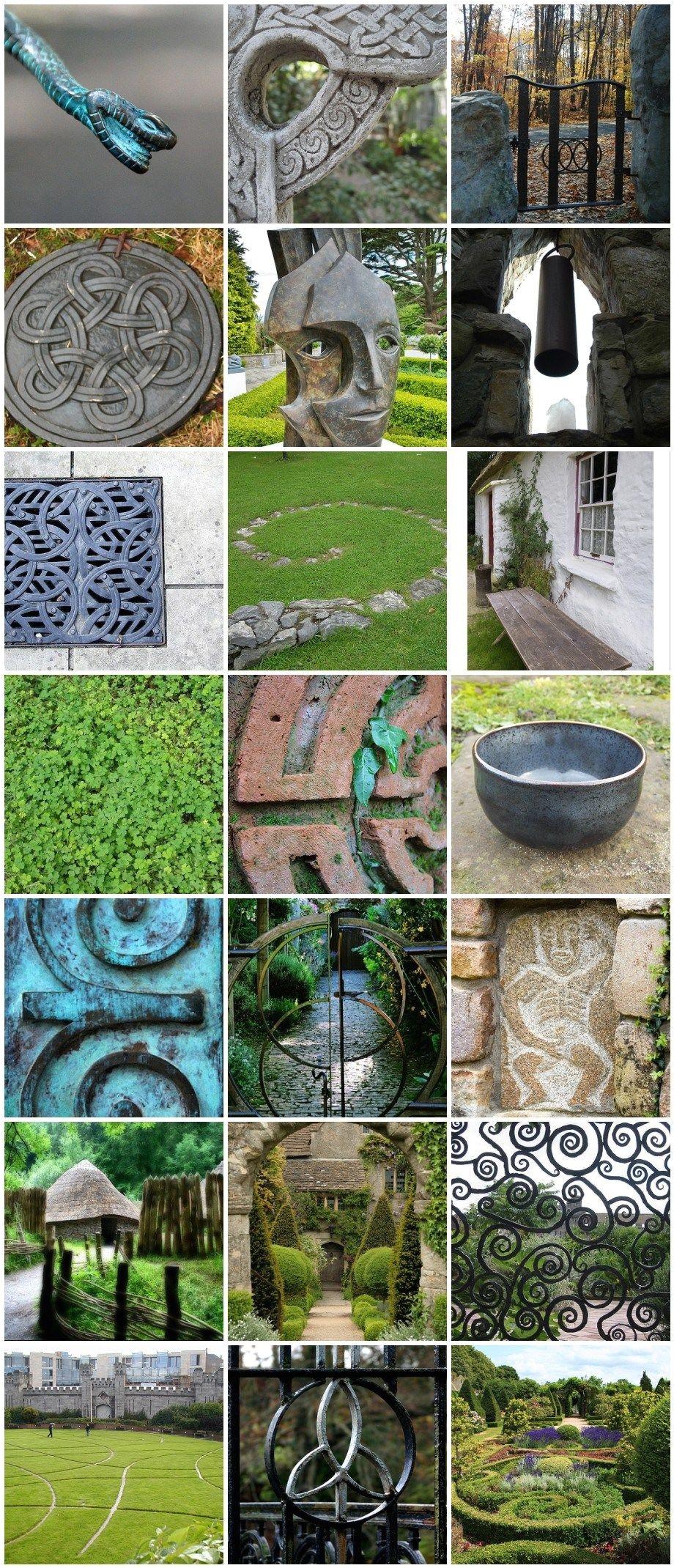a mosaic of celtic and irish inspiration for garden design from pithandvigor com