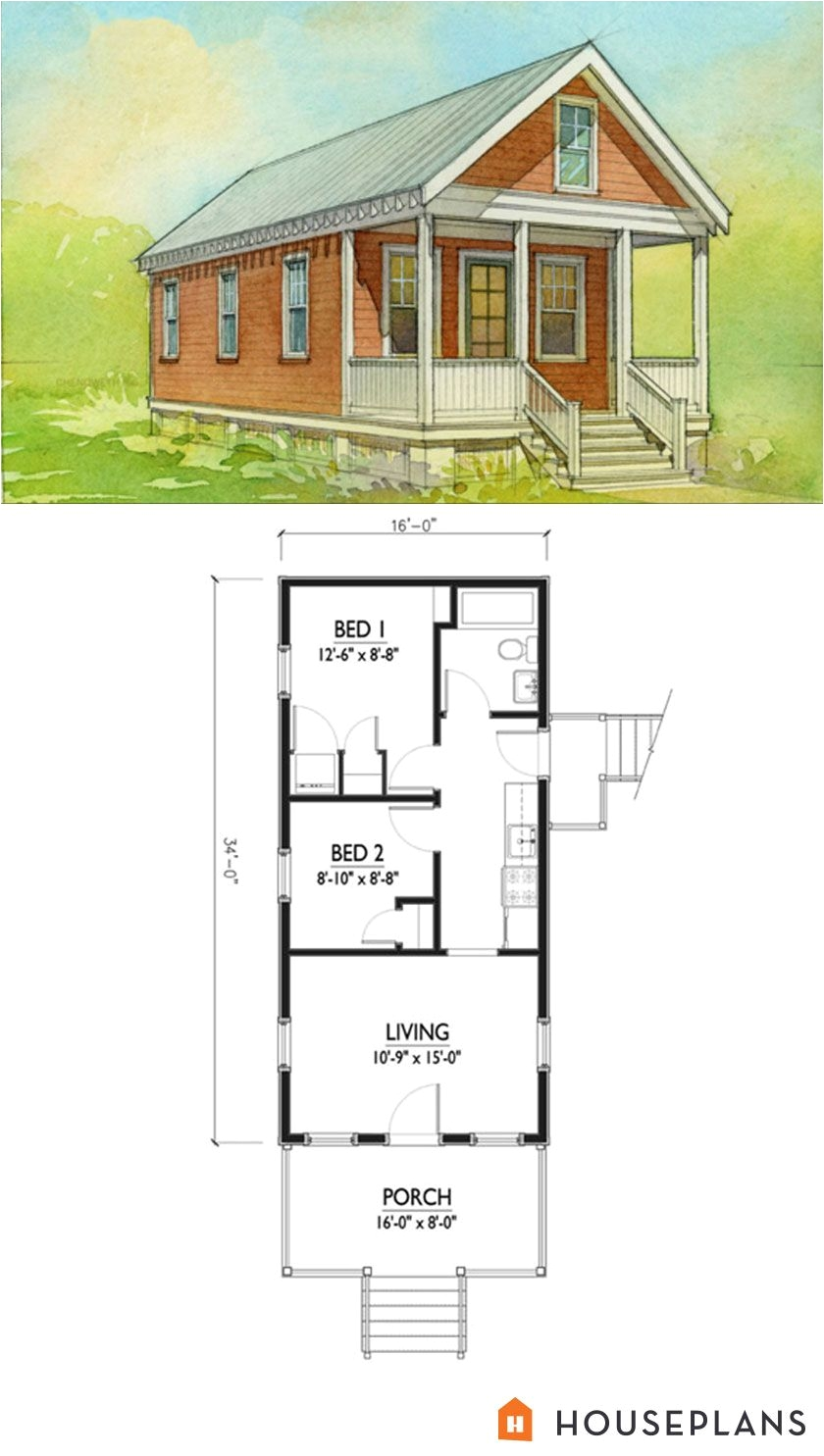 small katrina cottage house plan 500sft 2br 1 bath by marianne cusato houseplans plan 514 5