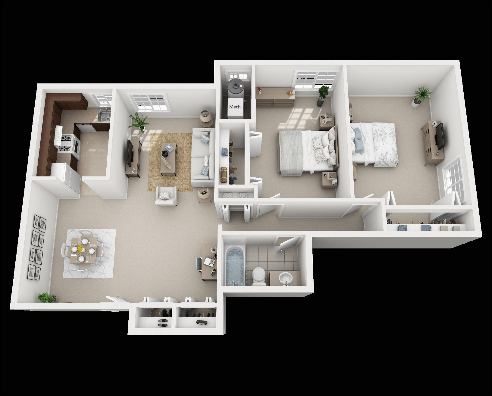 2 bedroom layout b