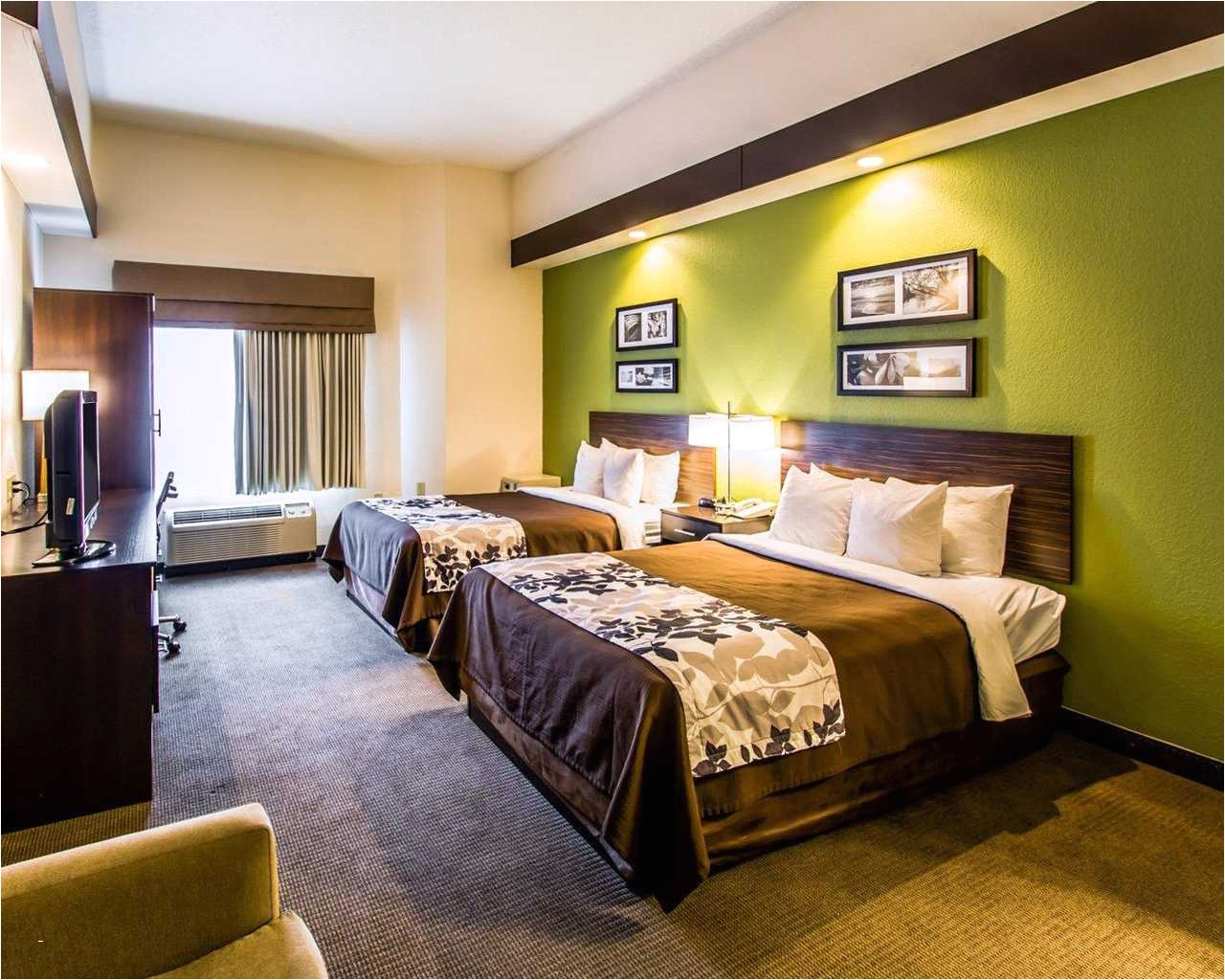 sleep inn orlando airport double beds 3