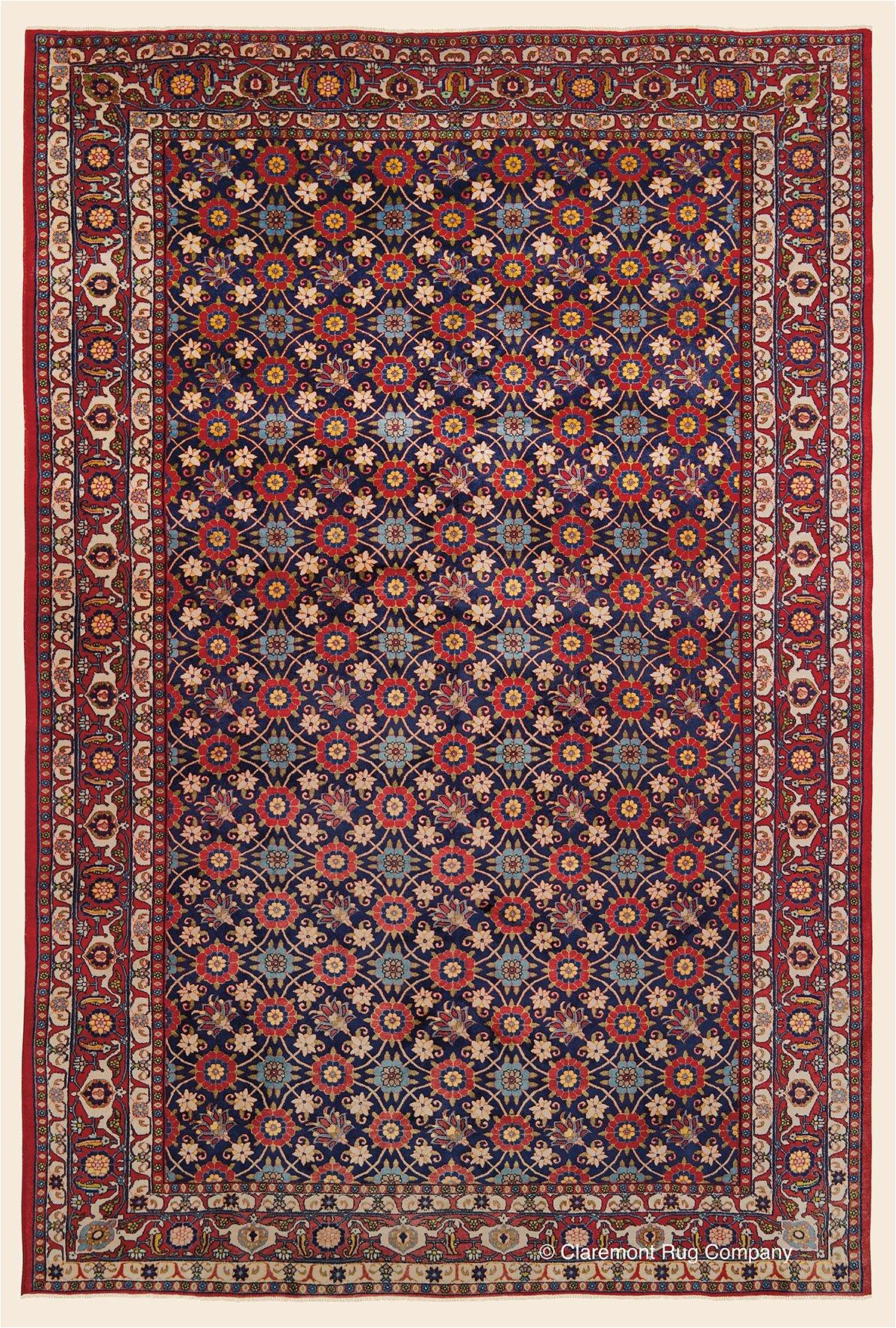 antique circa 1925 northern persian high decorative veramin rug 7 1 x 10