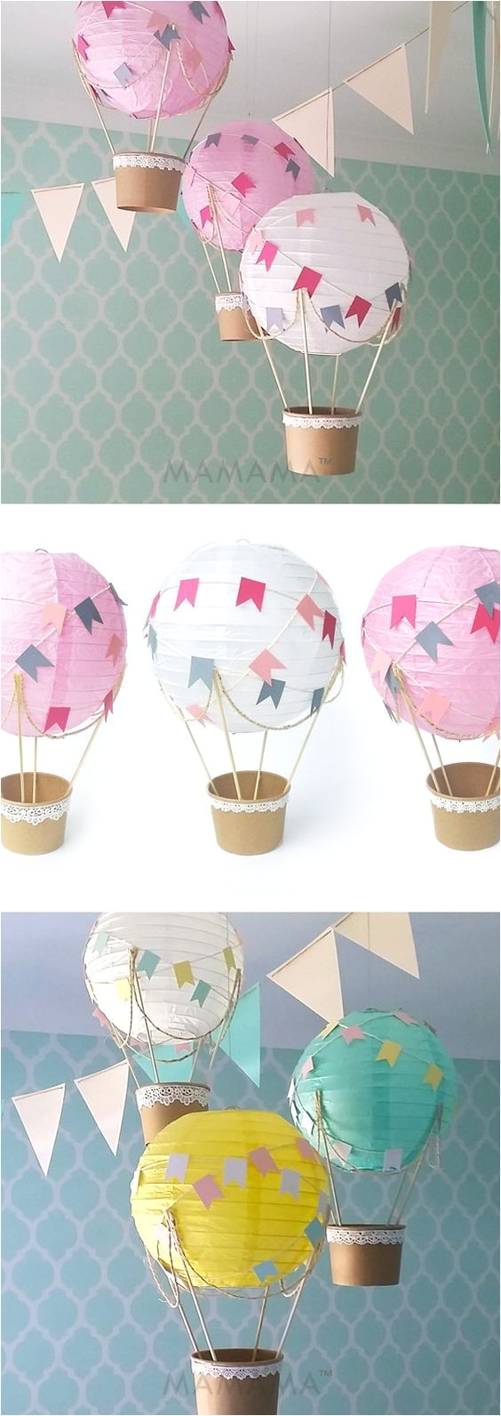 Cheap Baby Shower Decoration Kits Whimsical Hot Air Balloon