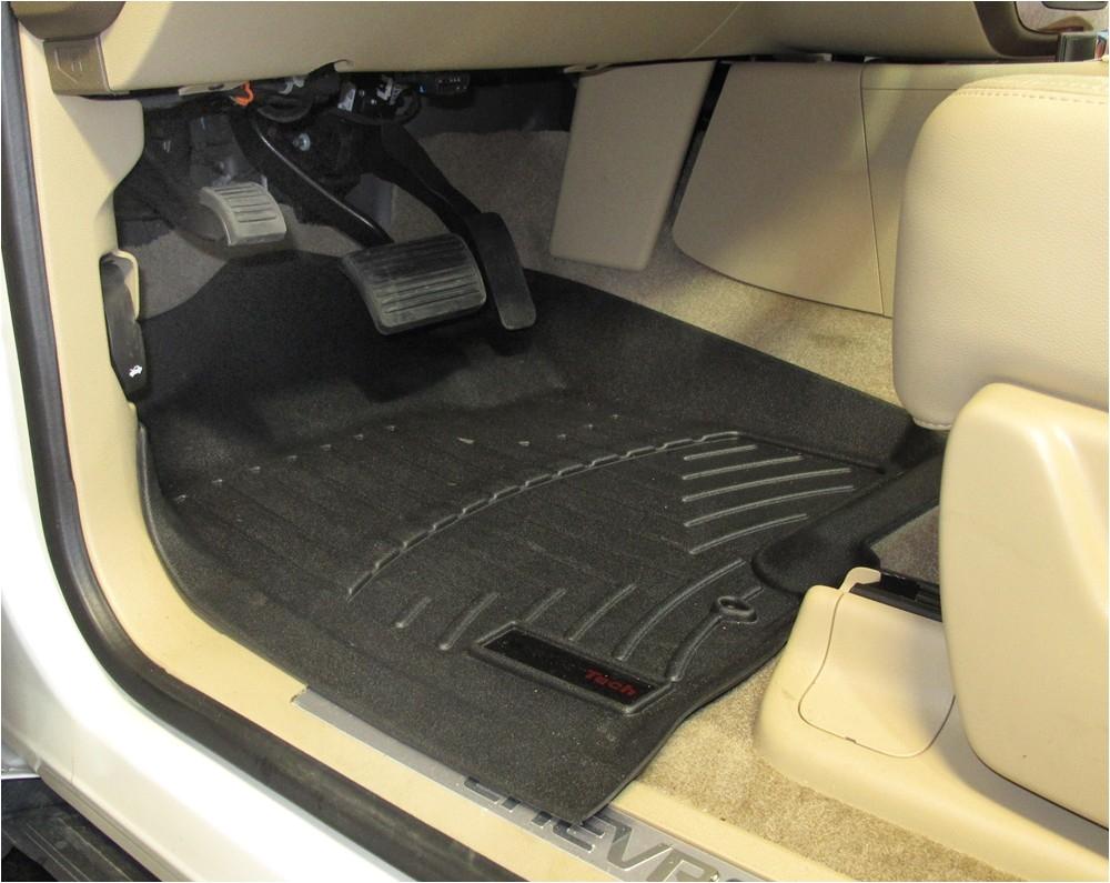 wt440661 contoured weathertech floor mats wt440661 thermoplastic weathertech custom fit on 2011 chevrolet tahoe
