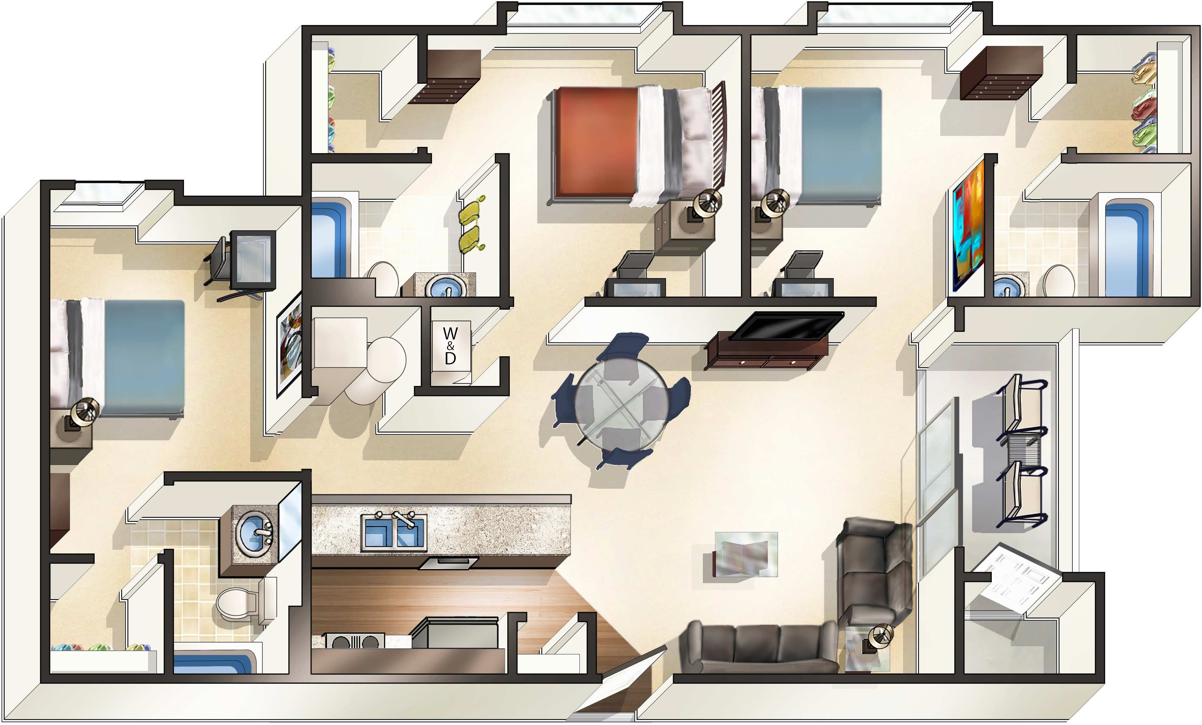 apartments with 3 bedrooms new apartments starkville ms