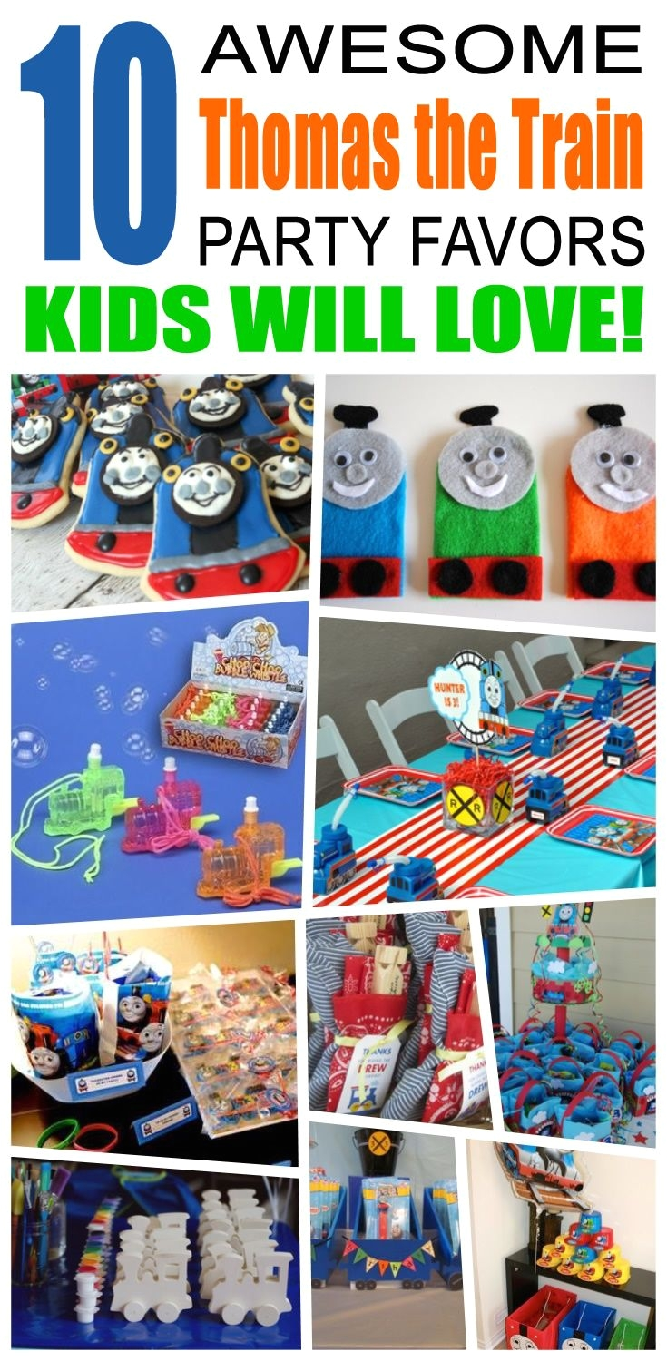 great thomas the train party favors kids will love fun and cool thomas the train birthday party favor ideas for children easy goody bags treat bags