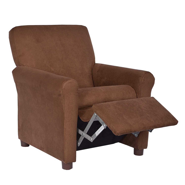 amazon com crew furniture 649850 urban child recliner black vinyl kitchen dining