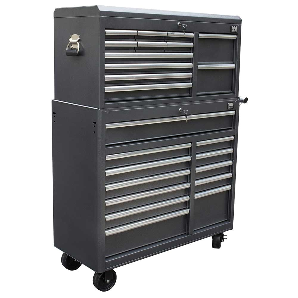 wen 77041 41 inch tool chest and cabinet combo