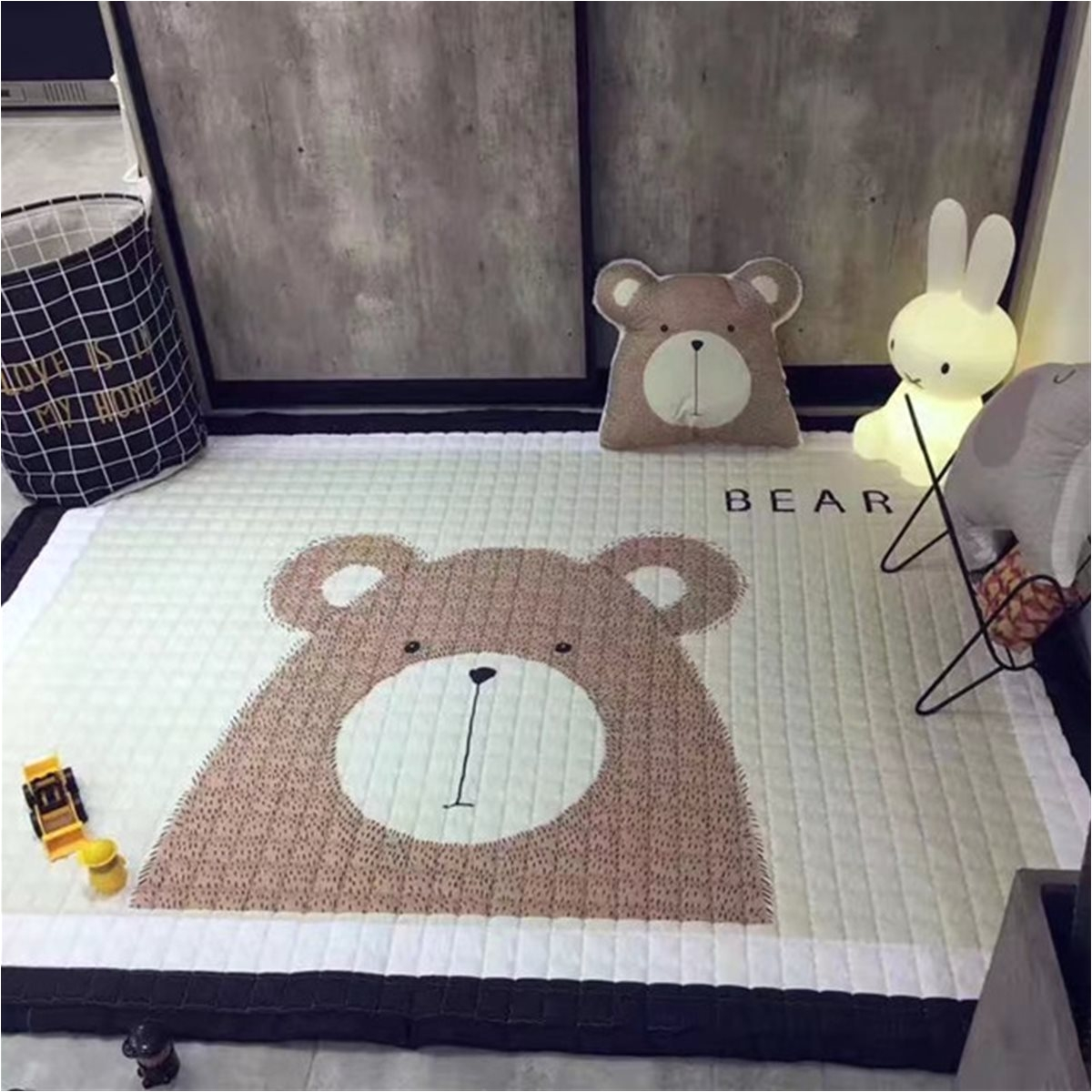 195x145cm baby kids play mat floor rug crawling blanket large soft rectangle cotton carpet modern style floor mats in carpet from home garden on