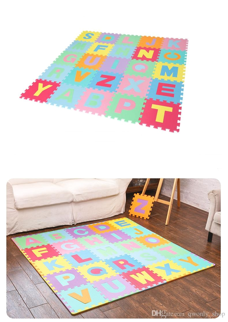 children s soft developing crawling rugs baby play puzzle number letter cartoon eva foam