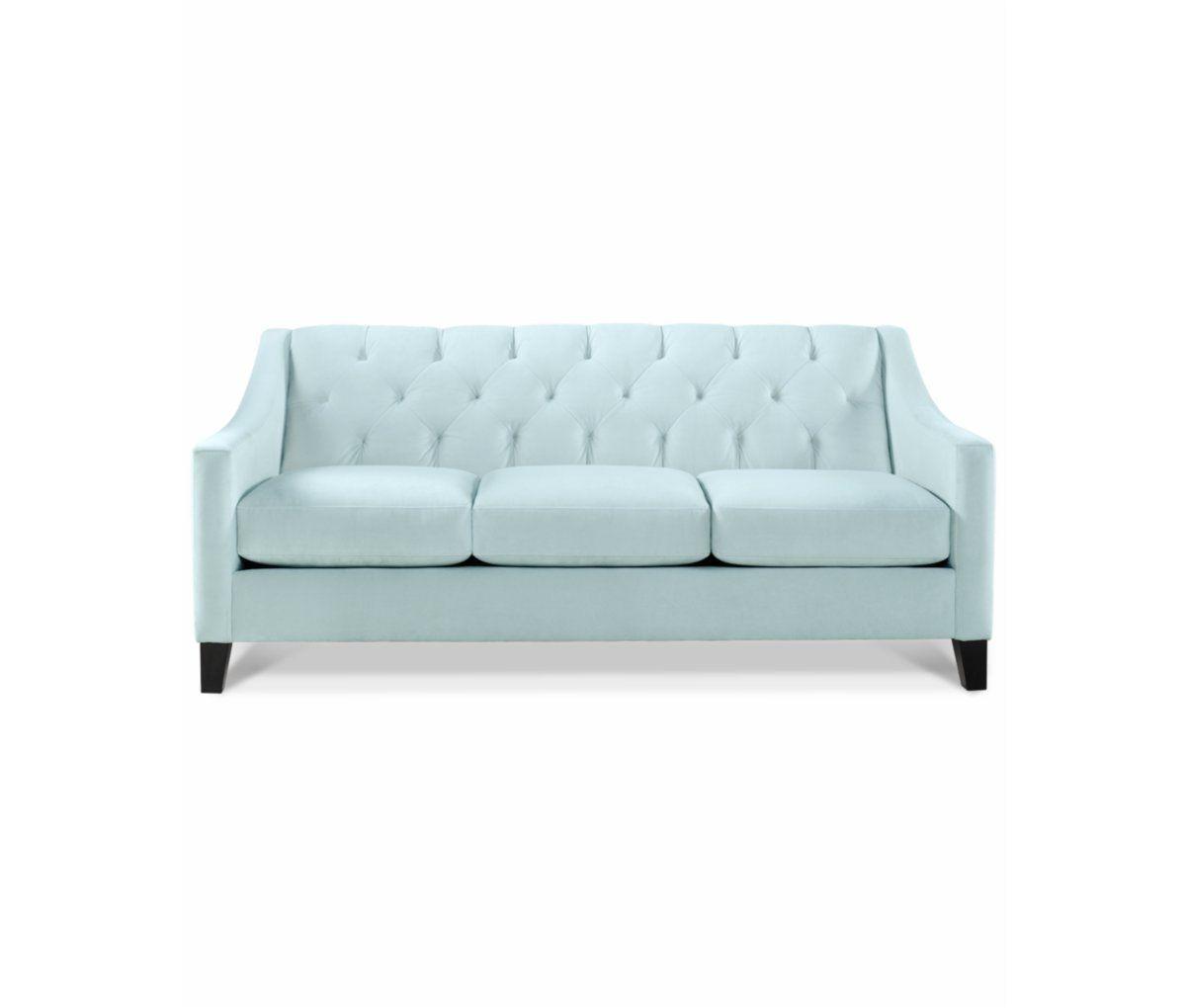 chloe velvet tufted sofa furniture macy s