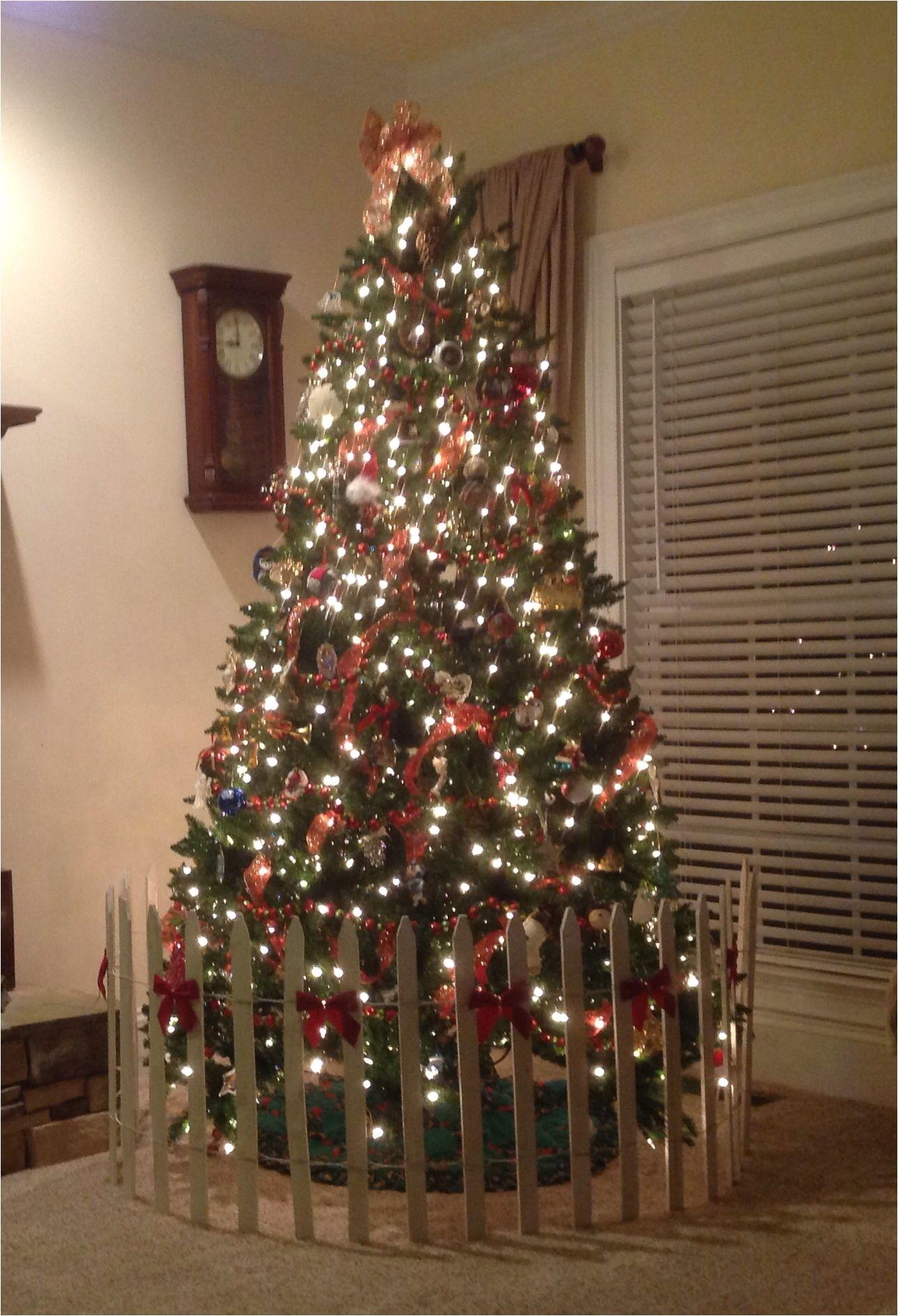 dog proof your christmas tree