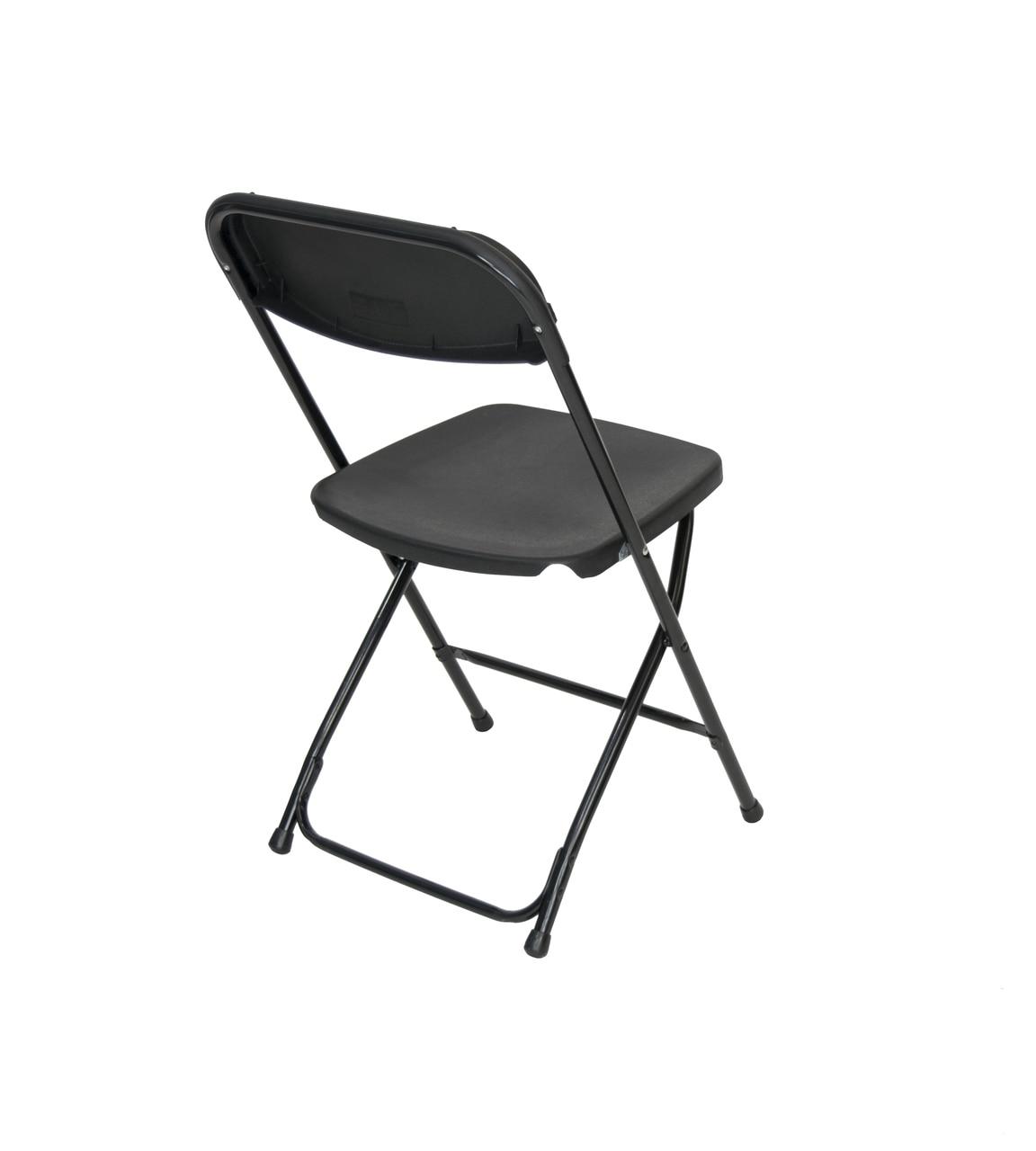 Cloth Padded Folding Chairs Black Plastic Folding Chair Premium Rental Style