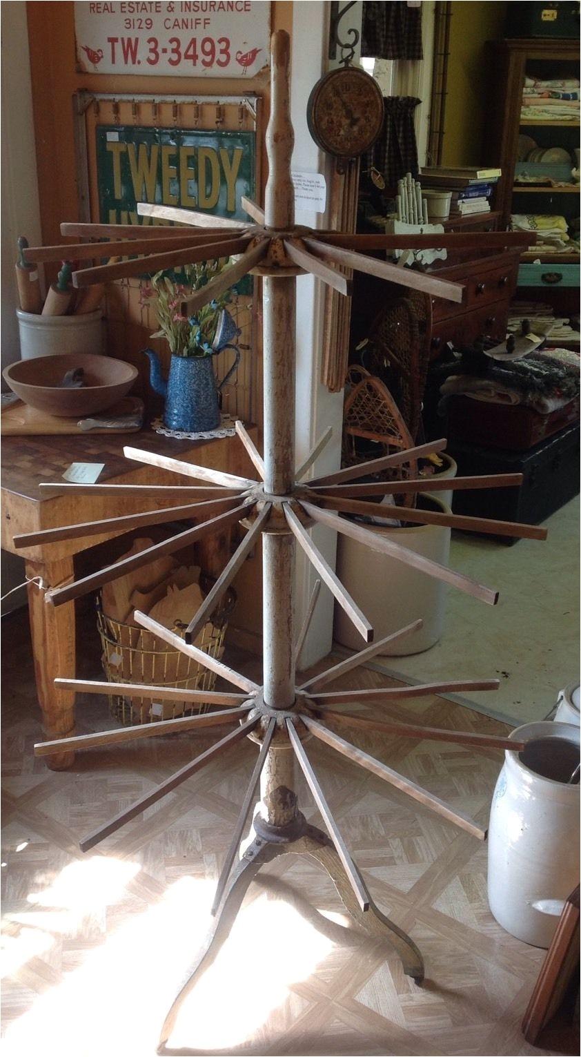 antique folding wood farm primitive clothes drying rack laundry display ebay