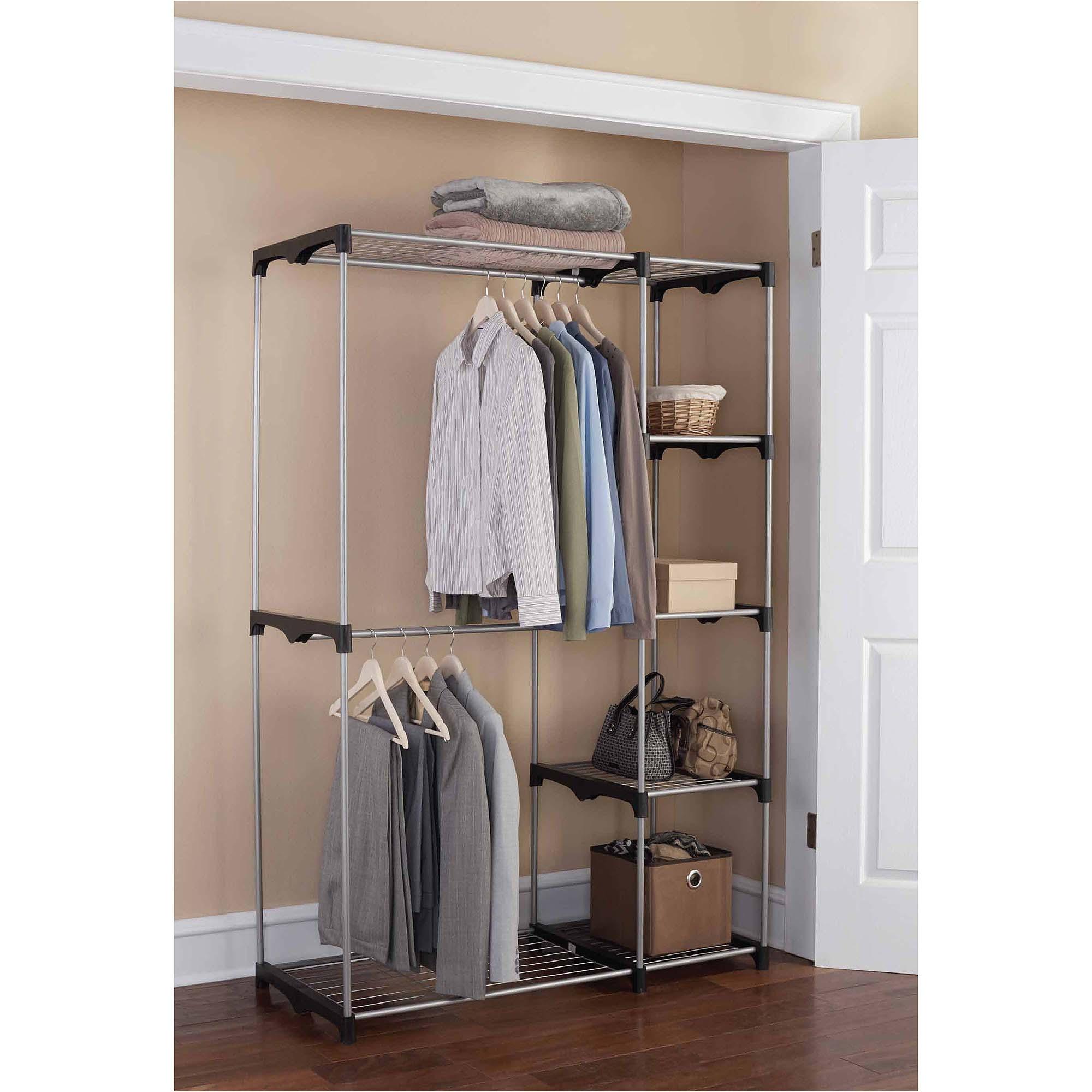 Clothing Drying Rack Walmart Wire Closet Shelving