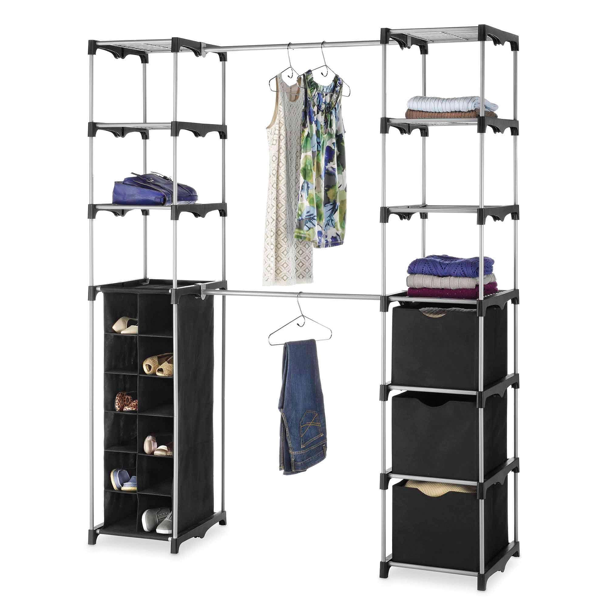 ideas organizer bins walmart clothes rack closet storage as well gorgeous walmarty wardrobe walmarti 0d