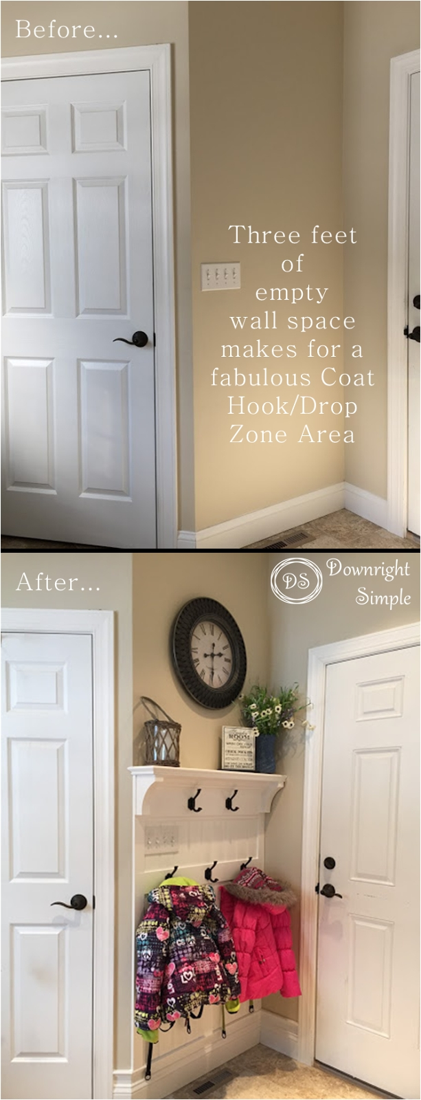 downright simple mudroom entryway maximizing a small space
