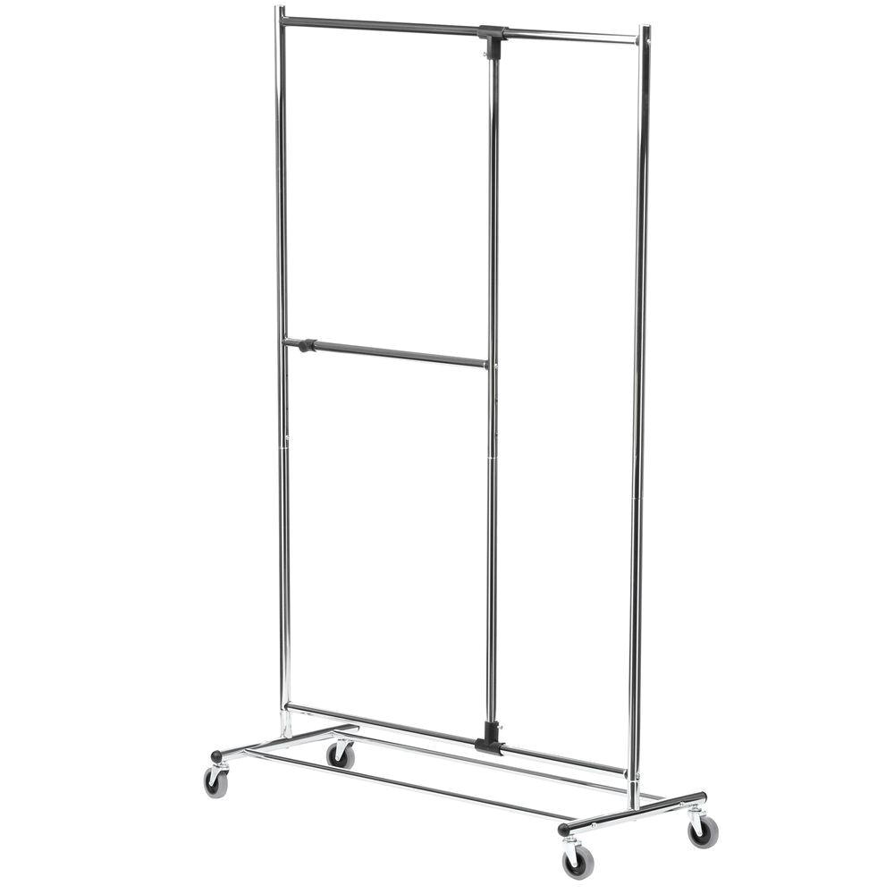 chrome honey can do garment racks portable wardrobes gar 01702 64 1000y wardrobe rolling rack dual