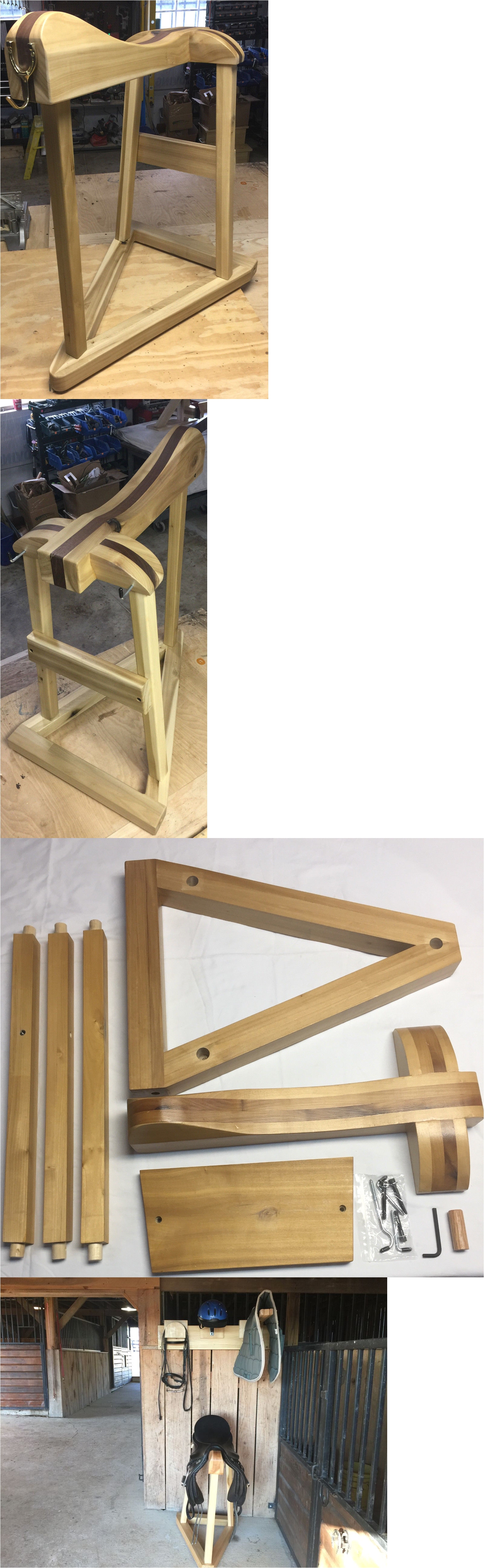 Collapsible Wood Saddle Rack Saddle Racks and Stands 183432 Wud Saddleraxa Standard Saddle Rack
