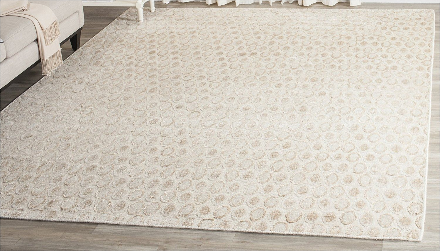 safavieh mir856a 9 mirage collection hand woven beige wool area rug 9 x