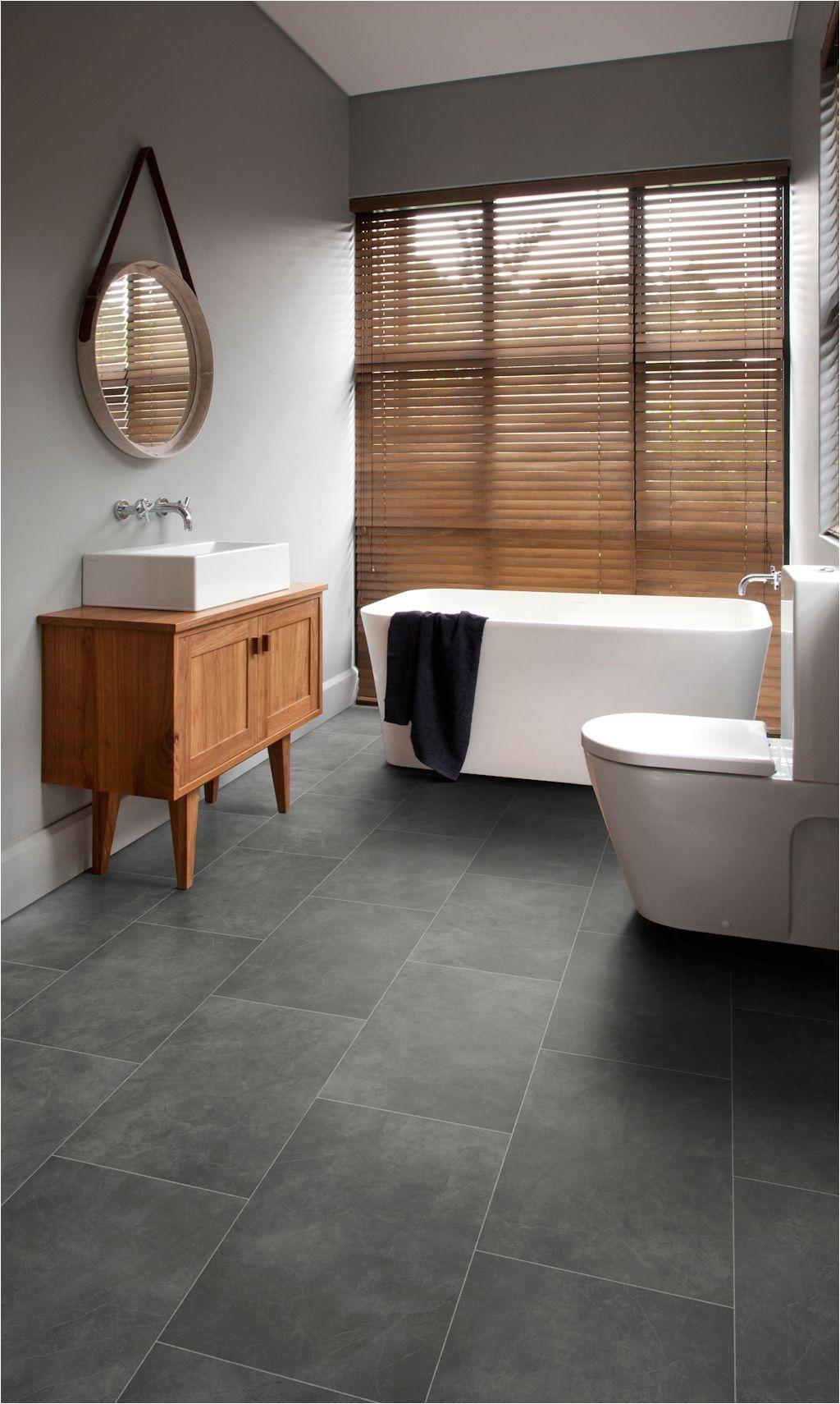 Commercial Rubber Flooring Bathroom Featuring Secura Pur Luxury