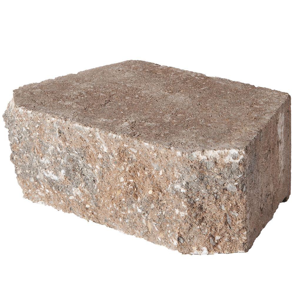 rock blend concrete retaining wall