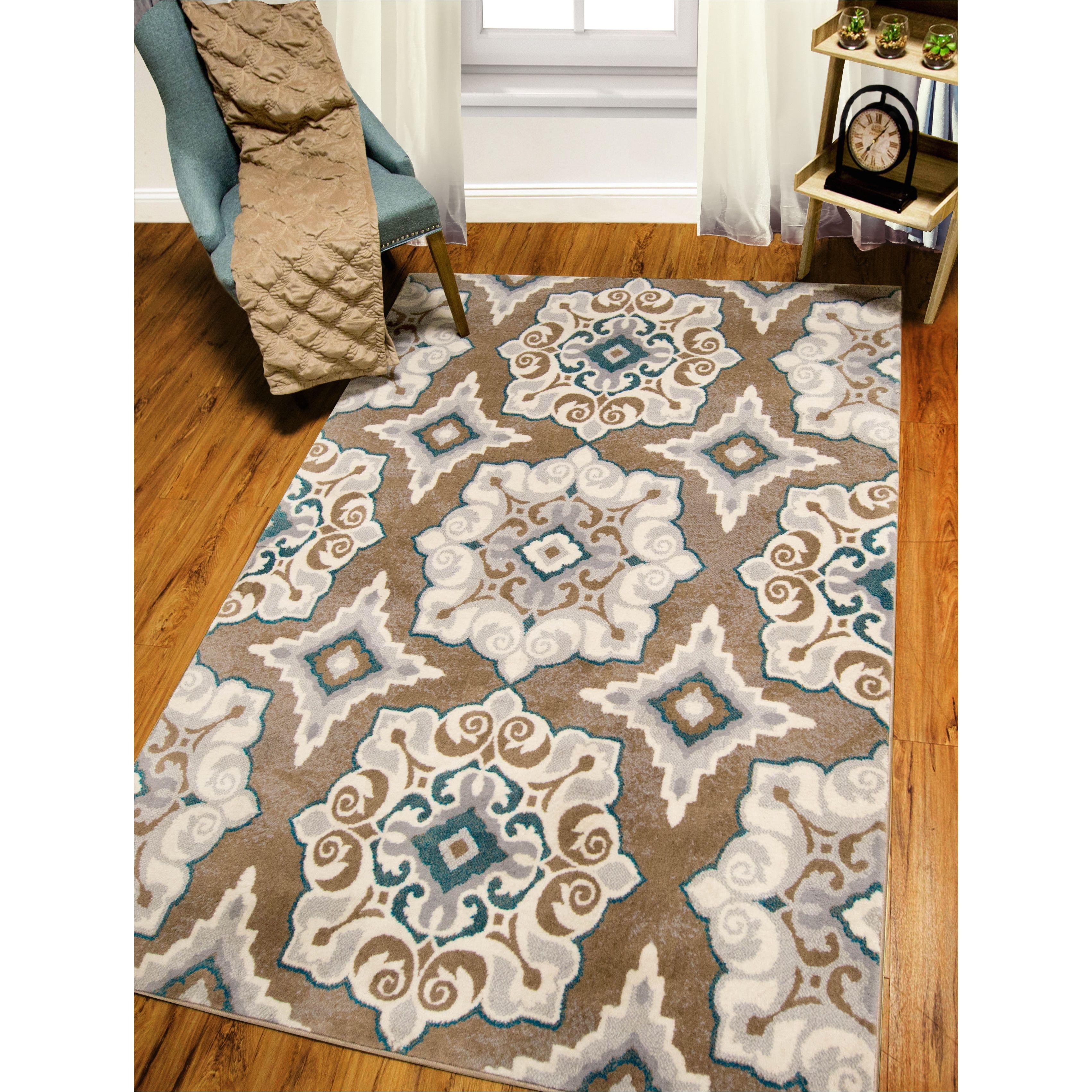 andover millsa natural cerulean blue tan area rug