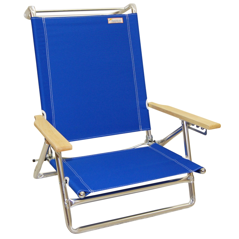 Copa Heavy Duty Beach Chairs 5 Position Lay Flat Aluminum Folding Beach Chair Blue by Jgr Copa