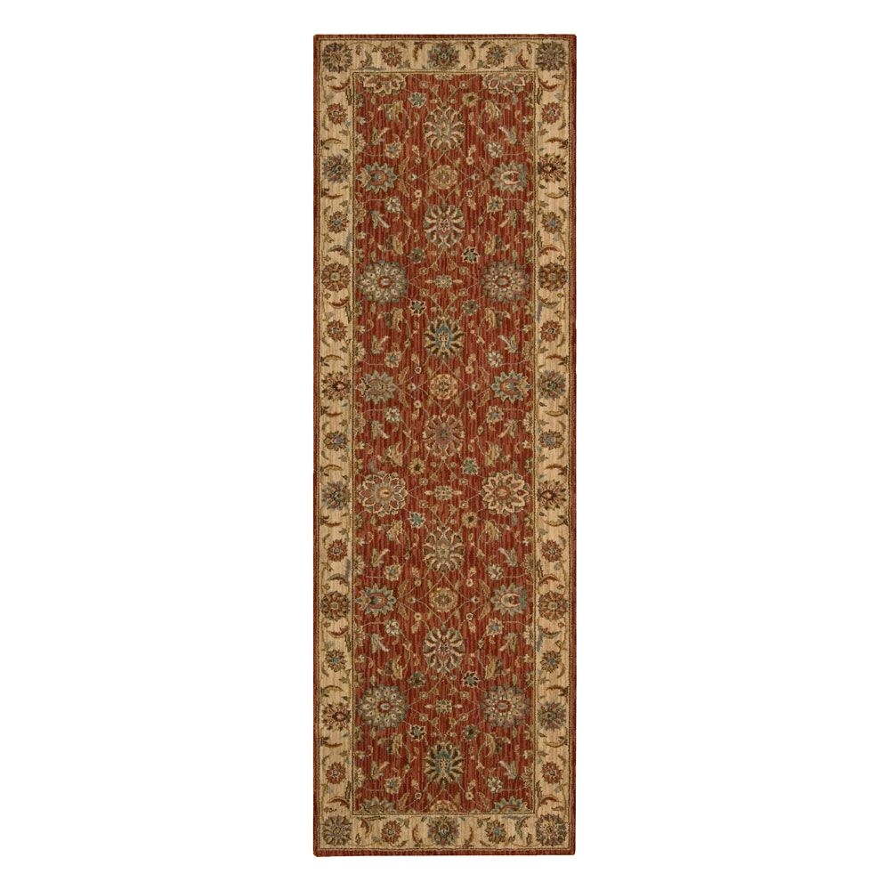 runner rug costco uk traditional rug in rust runner 138 99 inc vat