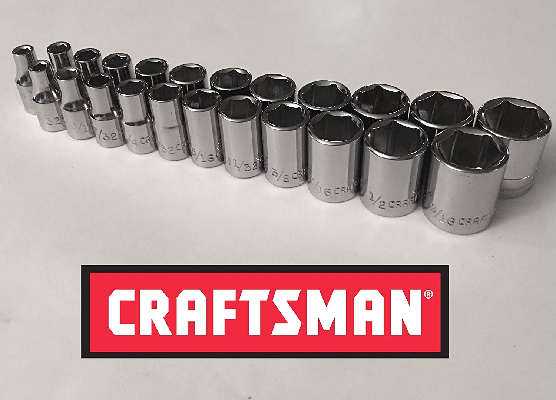 Craftsman 1/4 socket Rack Craftsman 23 Piece 1 4 Drive 6 Point socket Set Amazon Com