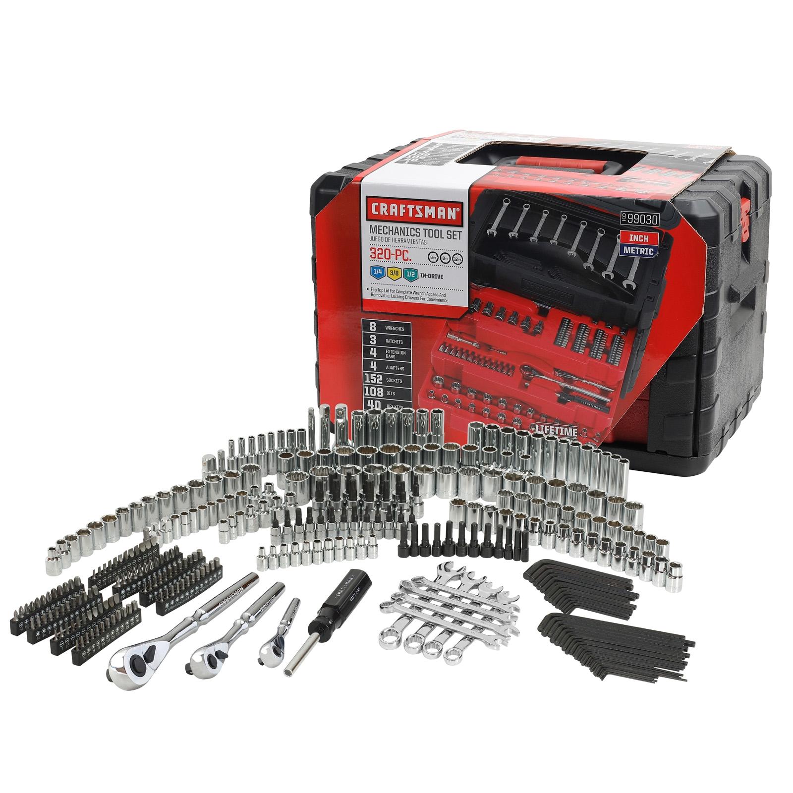 craftsman 320 piece mechanic s tool set 329 99