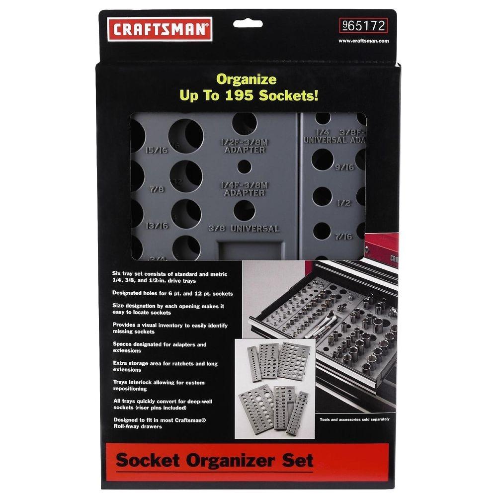Craftsman socket Rack Set Craftsman Wrench socket organizer Set 6 Tray Divider Holds 195