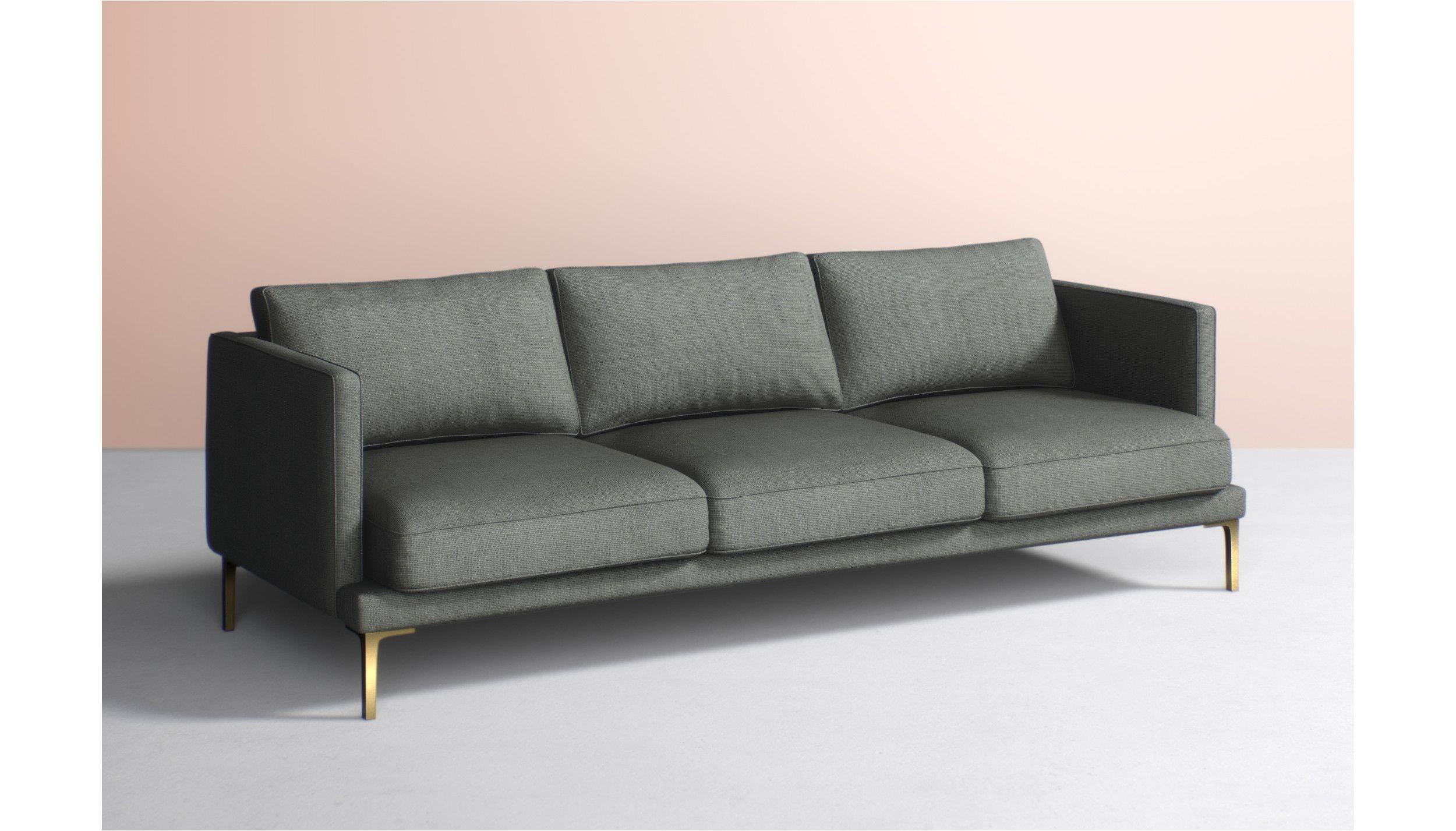 linde three cushion sofa