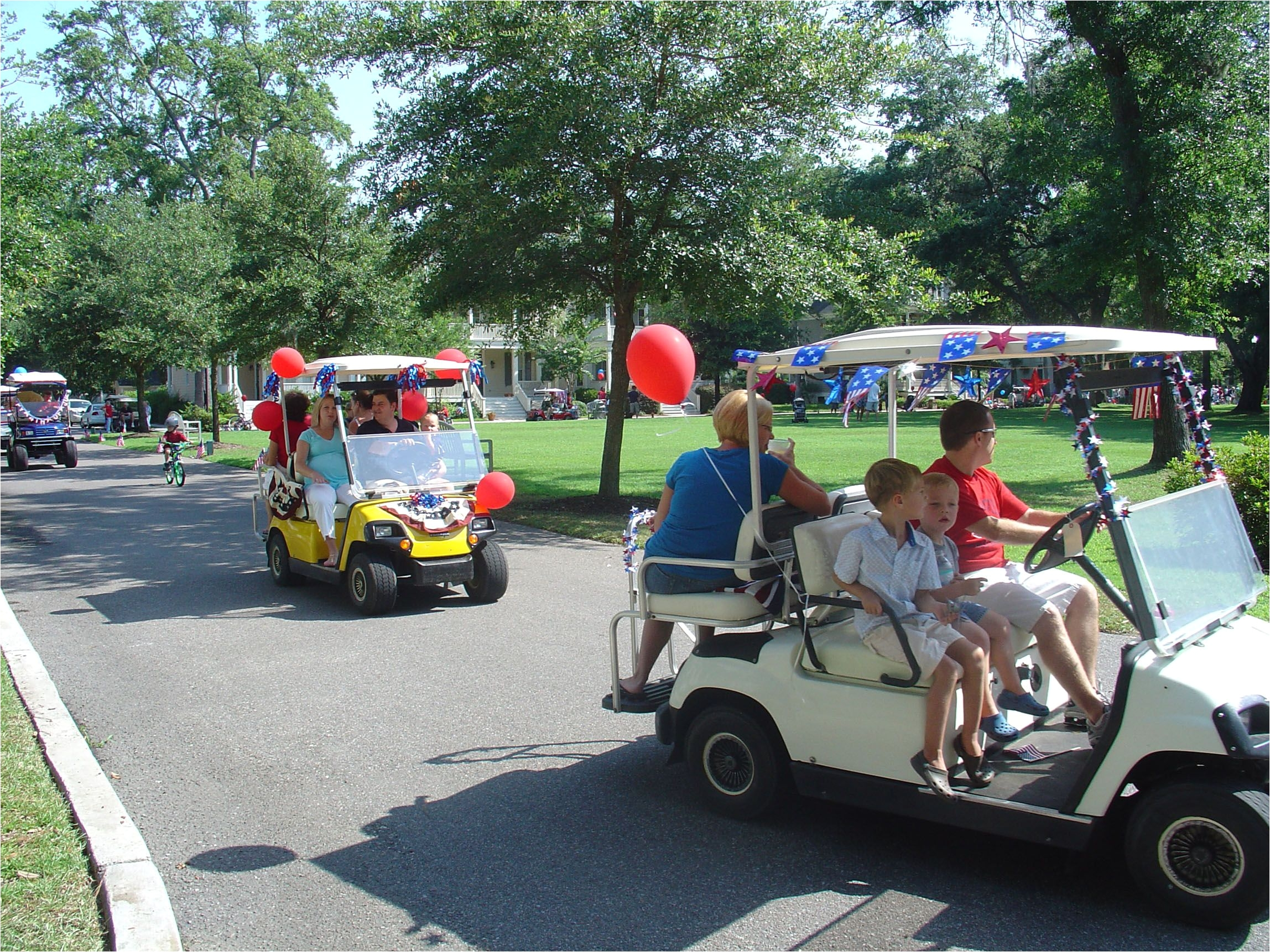 Decorated Golf Cart 4th July Parade Decorate Your Golf Cart Your Bike Tricycle Pets Kids or Yourself