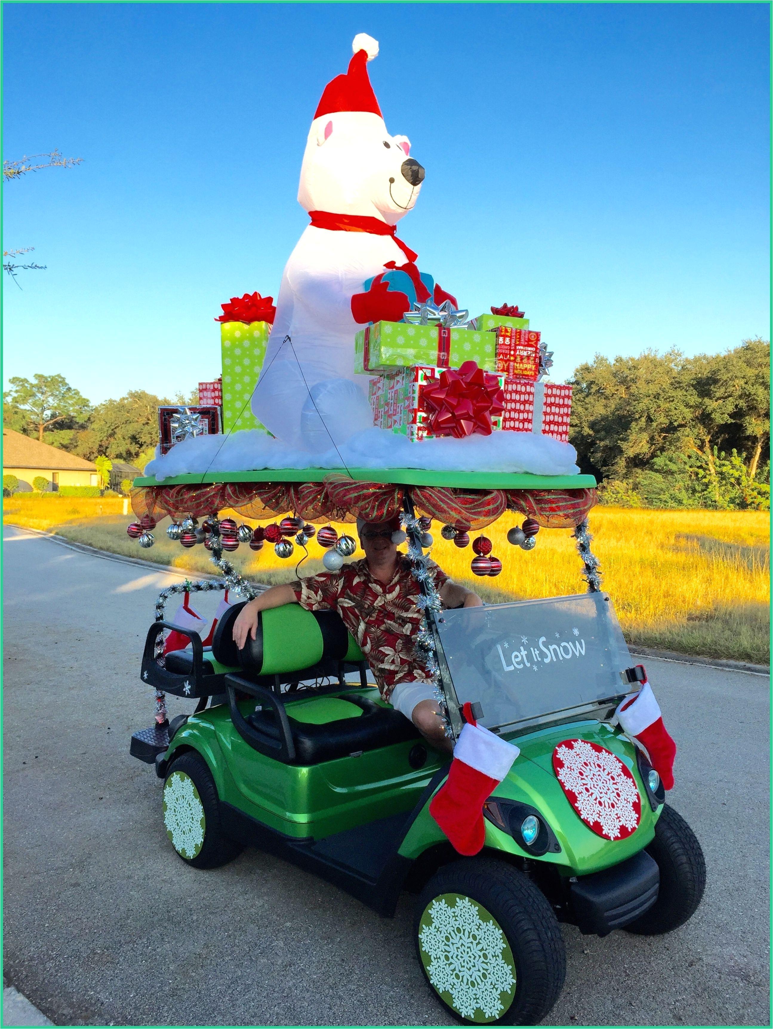 Decorated Golf Cart For Christmas Parade Golf Carts Golf Cart Parts