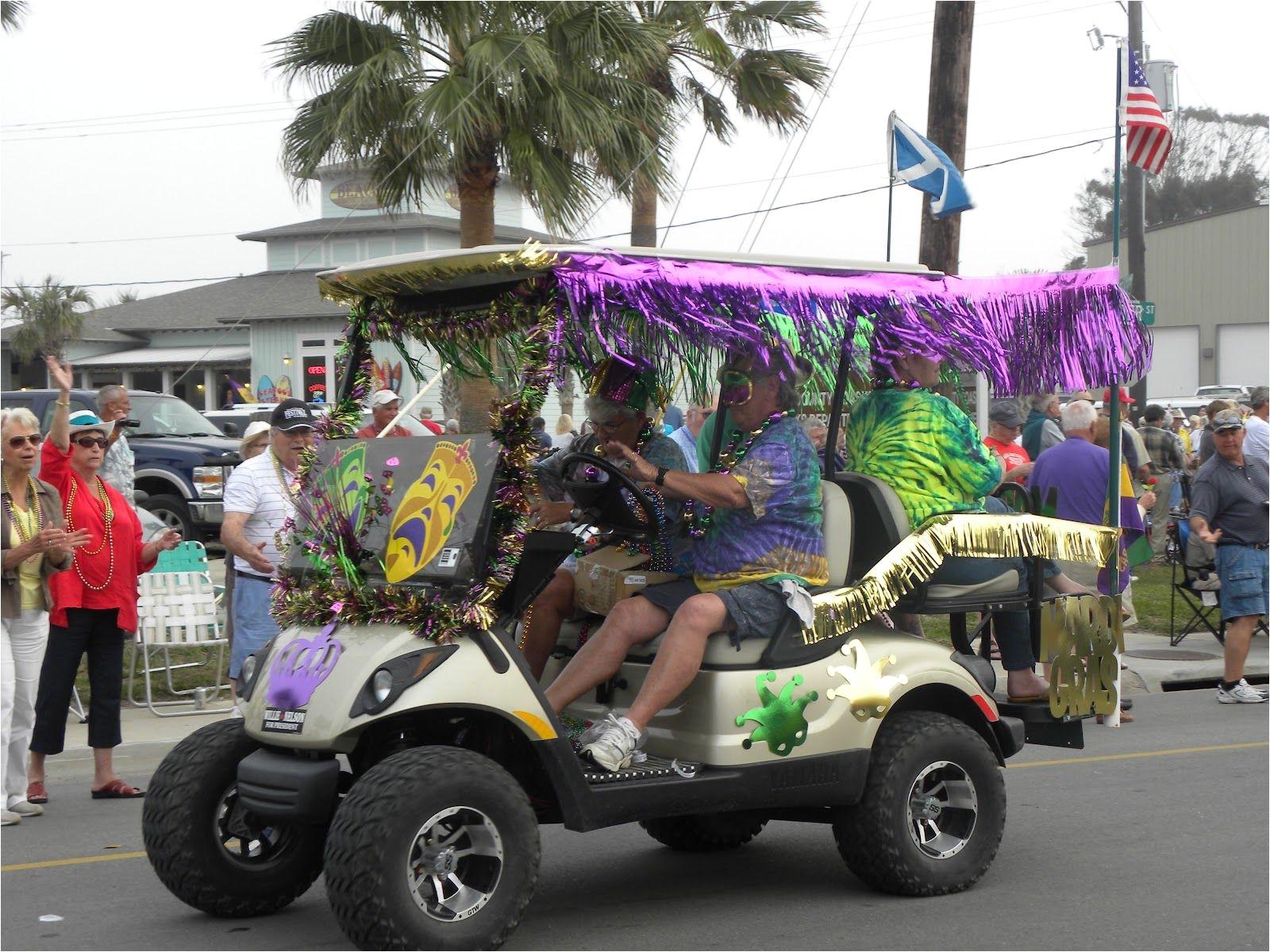 Golf Cart Christmas Decorations.Decorated Golf Cart For Christmas Parade Mardi Gras Golf