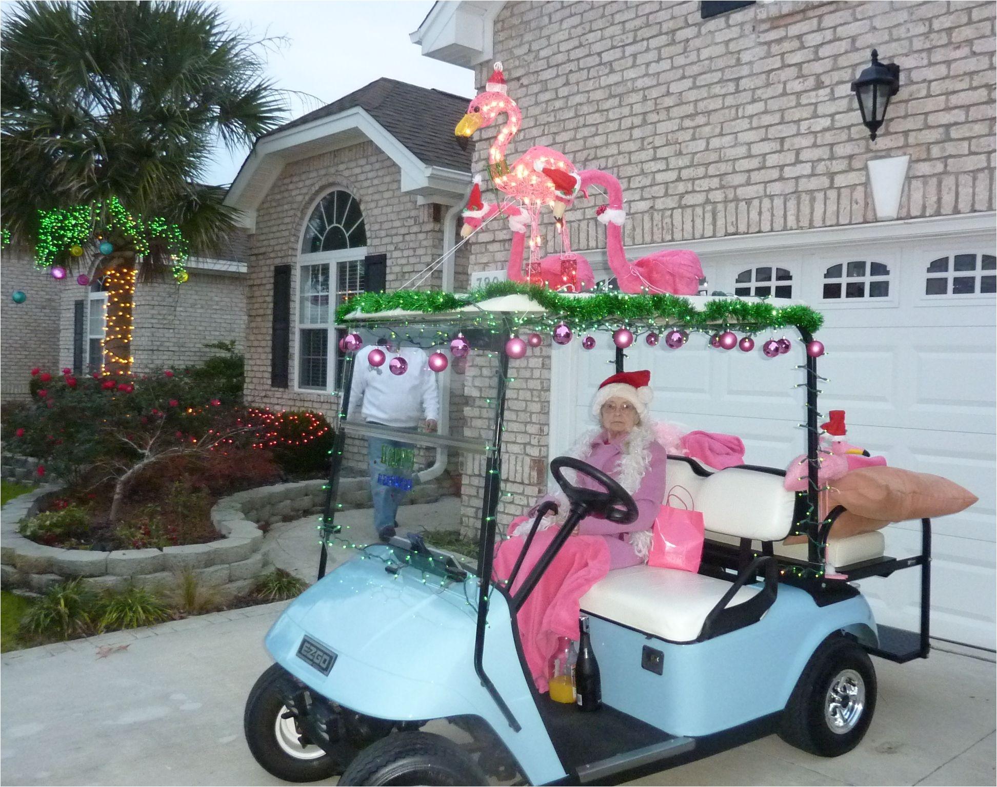 golf cart parade flamingos i love the mimosa ingredients